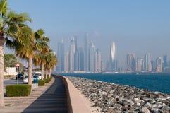 Vue sur la marina de Dubaï Image libre de droits