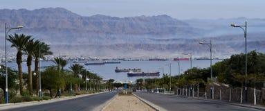 Vue sur la Mer Rouge, Eilat, Israël Photos stock