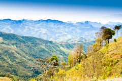 Vue sur la montagne. Images stock