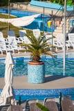 Vue sur la piscine vide Image libre de droits