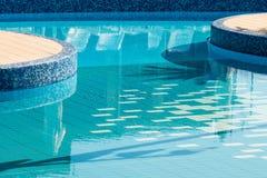Vue sur la piscine vide Photographie stock libre de droits