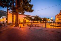 Vue sur la place centrale en ville de San Bartolome De Tirajana Photos stock