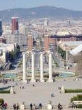 Vue sur la place Placa Espanya, Barcelone, Espagne de l'Espagne Photographie stock libre de droits