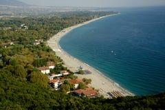 Vue sur la plage et la mer Photographie stock libre de droits