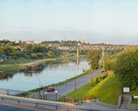Vue sur la rivière de Neman à Grodno Belarus Photo stock
