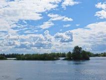 Vue sur la rivière Dnieper photo libre de droits