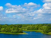 Vue sur la rivière Dnieper images libres de droits
