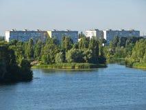 Vue sur la rivière Dnieper images stock