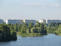 Vue sur la rivière Dnieper photos stock