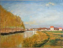 Vue sur la Seine - Claude Monet photographie stock