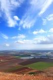 Vue sur la vallée d'agriculture Photographie stock libre de droits