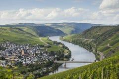 Vue sur la vallée de la Moselle image libre de droits
