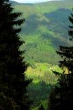 Vue sur la vallée de montagne Images libres de droits