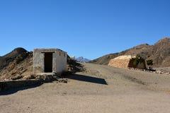 Vue sur la vieille maison des bédouins images stock
