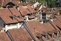 Vue sur la vieille ville de Berne Photo stock