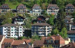Vue sur la vieille ville de Berne Image libre de droits