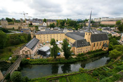 Vue sur la vieille ville du Luxembourg Images stock