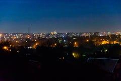 Vue sur la ville de minuit l'Alexandrie, Ukraine photos stock