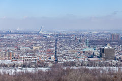 Vue sur la ville de Montréal au Québec Photo libre de droits