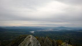Vue sur la ville du sommet Photo stock