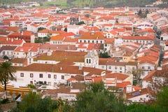 Vue sur la ville Montemor-o-Novo photos libres de droits