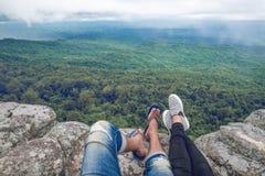 Vue sur la vue supérieure de montagne Photo stock