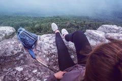 Vue sur la vue supérieure de montagne Photos libres de droits