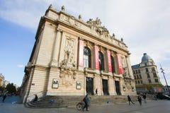 Vue sur le bâtiment d'opéra au centre de Lille, France images libres de droits