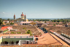 Vue sur le centre historique de Grenade, Nicaragua Photos libres de droits
