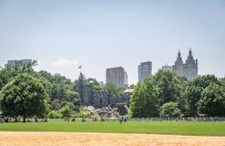 Vue sur le château de belvédère dans Central Park à New York image stock