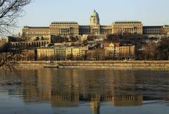 Vue sur le château de Buda de Budapest, Hongrie Image stock