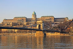 Vue sur le château de Buda de Budapest, Hongrie Photos stock
