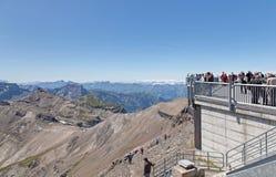 Vue sur le dessus de Mt Schilthorn Images stock