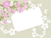 Vue sur le fond grunge floral illustration stock