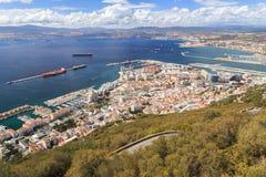Vue sur le Gibraltar Photos libres de droits
