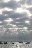 Vue sur le golf de Gascogne Photo libre de droits