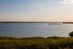 Vue sur le lac Sivash, Ukraine Photo libre de droits