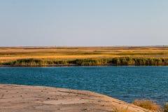 Vue sur le lac Sivash, Ukraine Images libres de droits