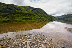 Vue sur le loch Lubnaig, Ecosse Image libre de droits