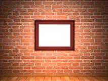 Vue sur le mur de briques Images stock