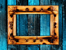 Vue sur le mur en bois Image stock