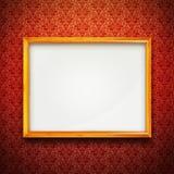Vue sur le papier peint rouge de cru Photographie stock libre de droits