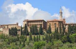 Vue sur le Pienza en Toscane photographie stock