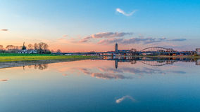 Vue sur le pont Deventer Pays-Bas de Wilhelmina Photo libre de droits