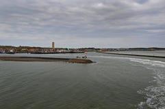 Vue sur le port de Terschelling Images libres de droits