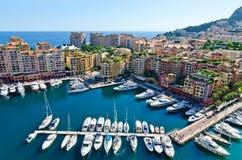 Vue sur le port du Monaco images libres de droits