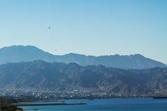 Vue sur le port maritime d'Aqaba La Mer Rouge Photos stock
