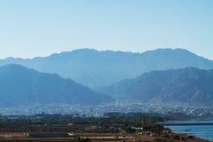 Vue sur le port maritime d'Aqaba La Mer Rouge Photos libres de droits