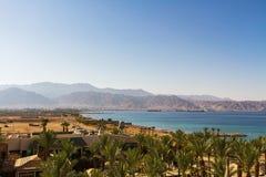 Vue sur le port maritime d'Aqaba La Mer Rouge Photo libre de droits