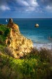 Vue sur le Praia DA Rocha de plage Image libre de droits